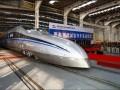 中国时速超500公里高速试验列车落成